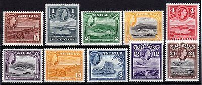 Antigua-1953/62- 10 Values, 1/2Cent to 24Cents. Very fresh MNH/MH