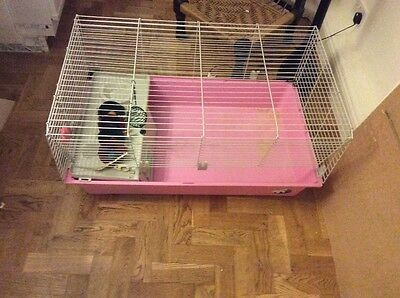 Rabbit/guinea pig cage pink indoor large less than year old