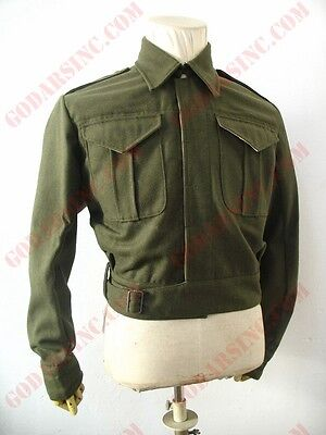 WW2 Canadian Army Infantry Khaki Green Serge Battle Dress Jacket Size M