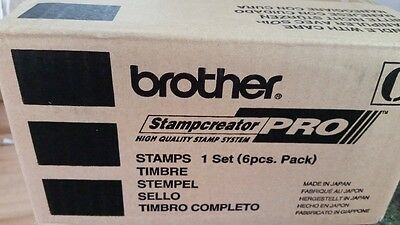 """Brother Stampcreator Pro Stamps PR3030G6P (1.18"""" x 1.18"""") 6 Pack green"""