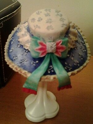 New box WILLOW HALL TRUE BLUE HAT AND STAND from Age of Elegance..beautiful