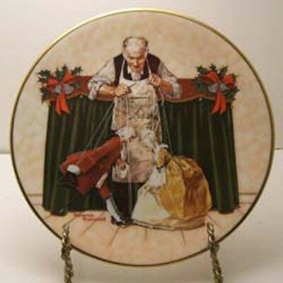 Puppets for Christmas Plate by Norman Rockwell
