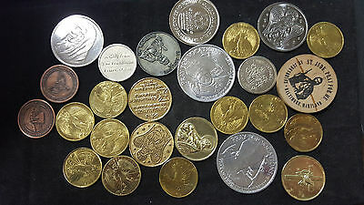 Lot of 26 Religious tokens medals etc