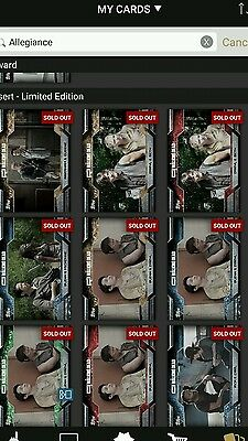 Topps walking dead Allegiance award and lot of limited allegiance cards.