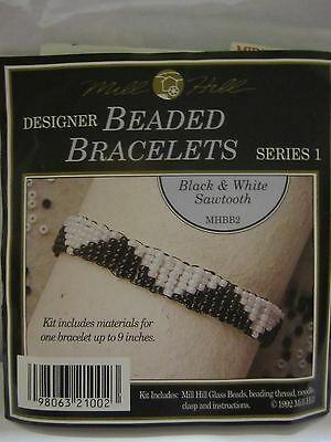 Mill Hill BLACK AND WHITE SAWTOOTH Designer Beaded Bracelets Series 1