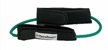 Thera-Band Resistance Tubing Loops with Padded Cuffs - Green, Intermediate