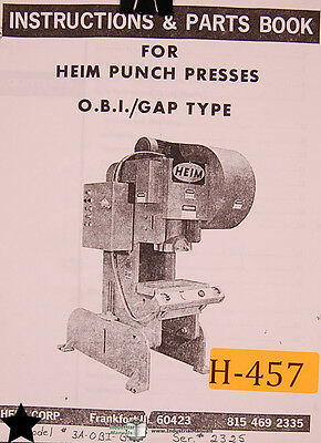 Terrific Heim 30 And 50 Ton Punch Press Instructions Wiring And Parts Manual Wiring Cloud Nuvitbieswglorg