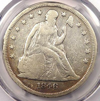 1846-O Seated Liberty Silver Dollar $1 - Certified PCGS Fine Details - Rare Coin