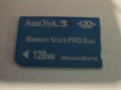 Sandisk 128MB Memory Stick Card Pro Duo for PSP and Sony devices
