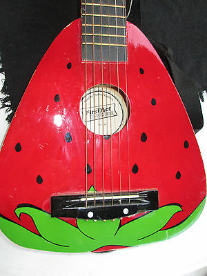 First Act  Red Strawberry Acoustic kids youth beginner Guitar - FG166 w strap