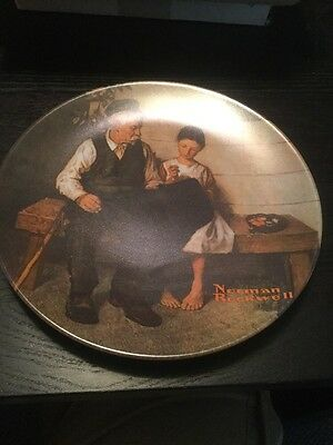 "Norman Rockwell Plates - ""Lighthouse Keepers Daughter"" by Knowles"