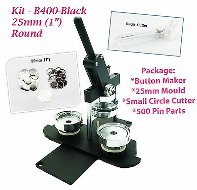 "25mm(1"") Button Maker-N3+Mould+ 500pinParts+Circle Cutter"