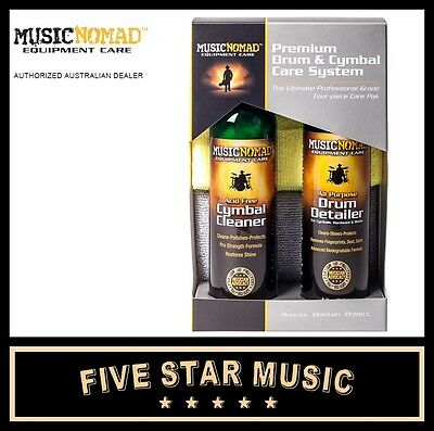 Music Nomad Premium Drum/cymbal Cleaner Pack With Cymbal Cleaner & Drum Detailer