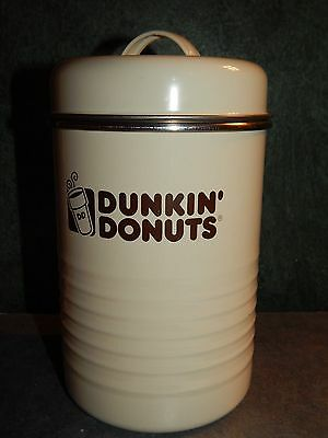 Dunkin Donuts Retro Enamel Coffee Canister NEW