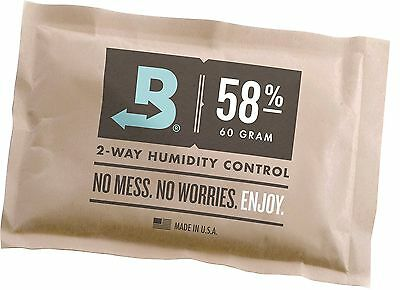 Boveda 58% RH Individually Overwrapped 2-Way Humidity Control Large 67 gram s...