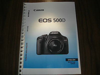 ~PRINTED~ Canon EOS 500D  User guide Instruction manual  A4 or A5