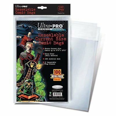 Ultra Pro Comic Bags Resealable Current Size (100) Ultra Pro