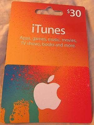 $30 iTunes gift Card- FREE POSTAGE