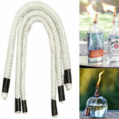 3~10mm x 300mm Fiberglass Wick Alcohol Kerosene Oil Lamp Tiki Torch Candle Fuel