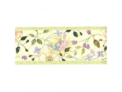 WALLIES New TRACY PORTER  Rare ~EVELYN~ 15' Floral WALLPAPER  Border ROLL #13244