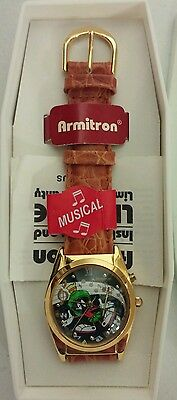 1994 Vintage Looney Tunes Marvin The Martian Musical Armitron Watch - NEW WORKS
