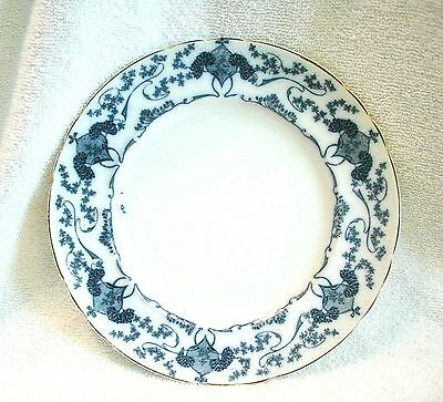 Antique Flow Blue Royal Staffordshire Pottery, China Plate 9 inches, ENGLAND