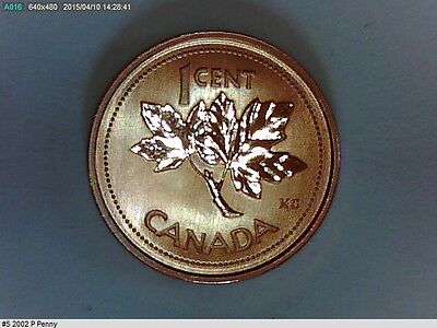 2002 P CANADIAN SMALL PENNY(1 CENT, Magnetic)(2027788)