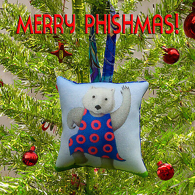 Phish Abe the Wombat Merry Phishmas Christmas Ornament Phan Art by SBMathieu