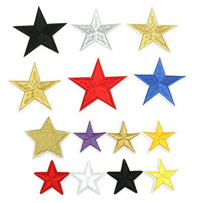 10pcs Star Embroidery Sew Iron On Patch Badge Clothes Applique Bag Fabric