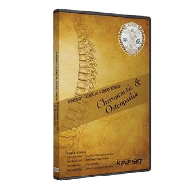 Kinesio Clinical Video Series DVD - Chiropractic and Osteopathic