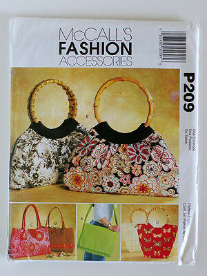 Sewing Pattern MCCALL'S  FASHION ACCESSORIES  P209 UNCUT