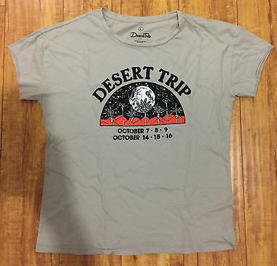 NEW: 2016 Desert Trip T-Shirt Large Bob Dylan Rolling Stones The Who Pink Floyd