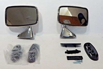 New Pair of Door Mirrors Reproduction of Original Mirror for MGB 1974-80 Made UK