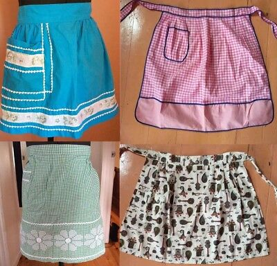 Vintage 1950's Aprons Pinafore Smock Cotton Handmade Craft Baking