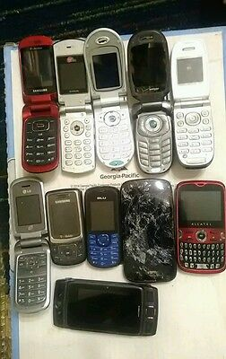 Lot Of 11 Cell Phones, Untested For Parts Or Repair