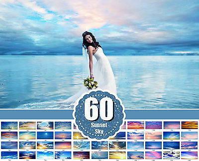 60 Sunset photo Overlays Gold Collection, Skies and clouds Photoshop jpg