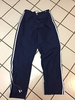 ADIDAS 3 Stripe Blue Athletic Warm Up Pants Track Running Youth M