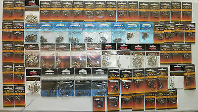 Lot 69 paquets AGRAFE EMERILLONS SNAP peche montage fishing SWIVELS SEA SPRO