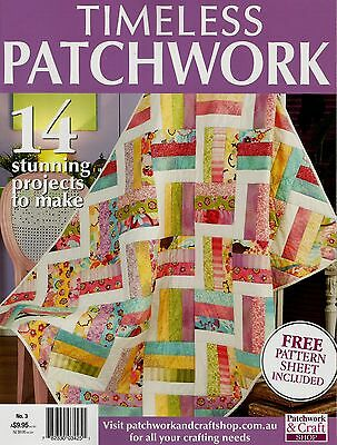 Timeless Patchwork No 3.  Magazine 2016.    Pattern Sheet Attached