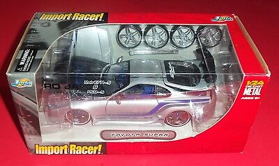 Import Racer - New - Gray/blue Toyota Supra - 1:24 - Die-Cast - Jada Toys