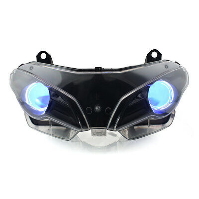 KT LED Angel Eye HID Headlight Assembly for Ducati Superbike 1098 2007-2009 Blue