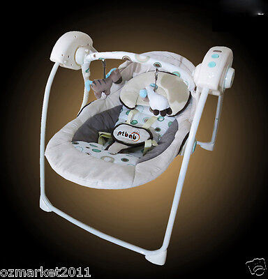 Fashion Security Beige Comfortable Baby Swing Chair/Electric Rocking Chair SS