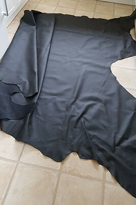 Beautiful Large Black Leather Hide 4.8m2