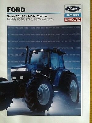 FORD SERIES 70 TRACTOR BROCHURE LEAFLET 1990's LAUNCH