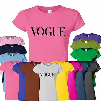 VOGUE Celebrity Ladies Tshirt Party Fashion Casual Womens Top Tee Gift T-Shirt