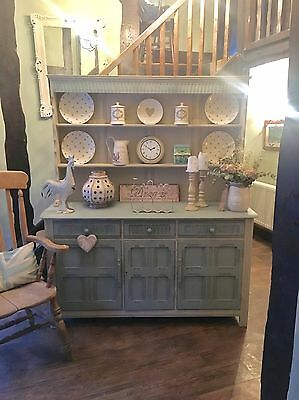Shabby Chic Dresser In Annie Sloan Duck Egg And Country Grey