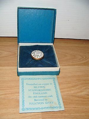 Bilston & Battersea Halcyon Days Enamels Miniature Trinket Box ~ Boxed ~ RARE