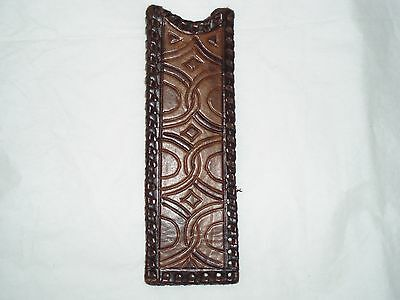 Vintage Leather Comb Cover