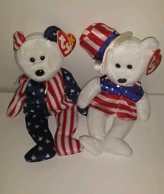 The Beanie Babies collection Sam & Spangle America baby American TY Collectable