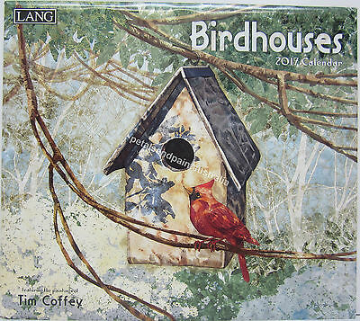 2017 Lang Wall Calendar Birdhouses by Tim Coffey Fits Timber Frame